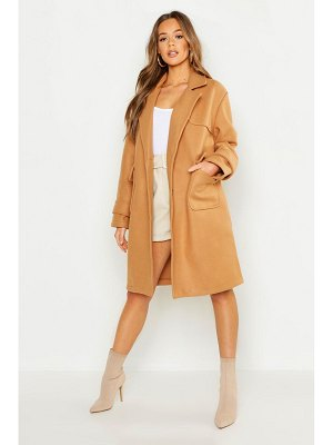 Boohoo Pocket Detail Utility Wool Look Coat