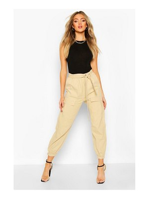 Boohoo Pocket Front Belted Cargo Trouser