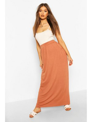 Boohoo Pocket Side Floor Sweeping Maxi Skirt