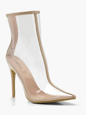 Boohoo Pointed Clear Shoe Boots
