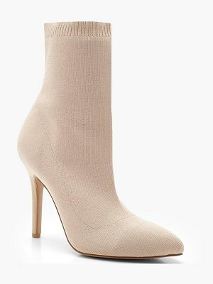 Boohoo Pointed Knitted Sock Boots