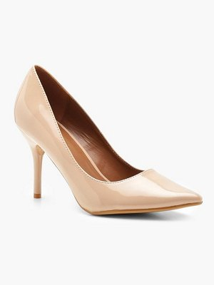 Boohoo Pointed Mid Heel Court Shoes