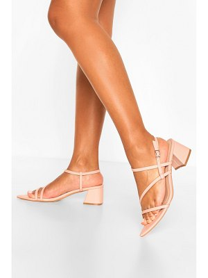 Boohoo Pointed Strappy Low Block Heel Sandals