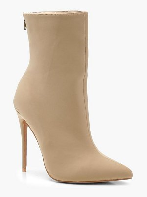 Boohoo Pointed Toe Stiletto Shoe Boots