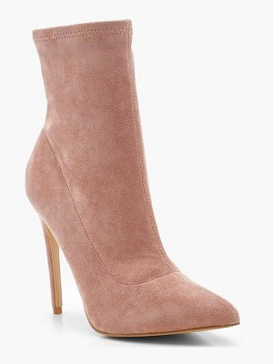 Boohoo Pointed Toe Stiletto Sock Boots