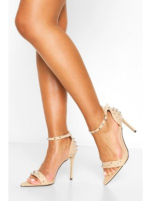 Boohoo Pointy Toe Stud Detail Barely There Heels