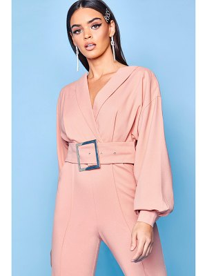 Boohoo Premium Belted Tailored Jumpsuit