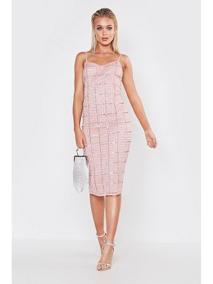Boohoo Premium Hand Embellished V Neck Midi Dress