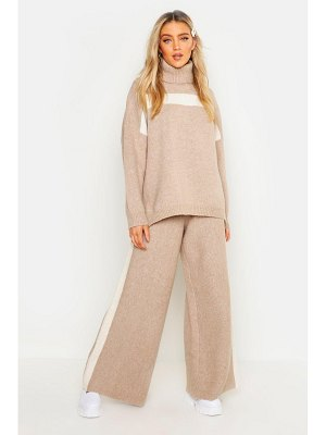 Boohoo Premium Heavy Knitted Stripe Set