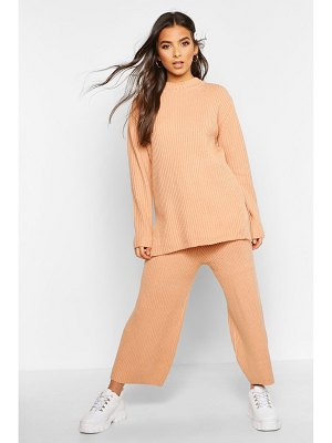Boohoo Premium Knitted Rib Turtle Neck Set