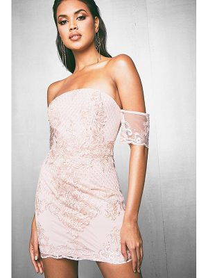 Boohoo Premium Corded Sequin Bandeau Dress