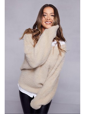 Boohoo Premium Oversized Feather Knit