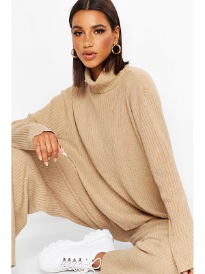 Boohoo Premium Turtle Neck Rib Knit Set