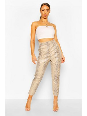 Boohoo Faux Leather Faux Snake Slim Fit Pants