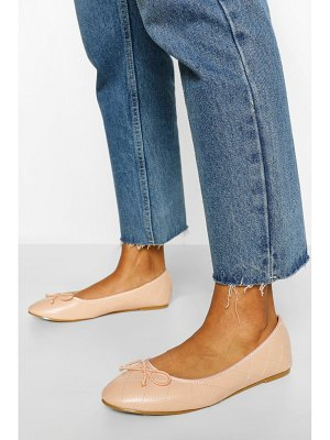Boohoo Quilted Basic Ballet Pumps