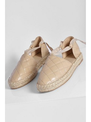 Boohoo Quilted Wrap Up Espadrille