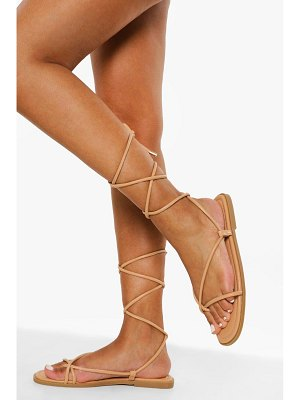 Boohoo Quilted Wrap Up Sandal