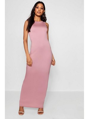 Boohoo Racer Front Basic Jersey Maxi Dress