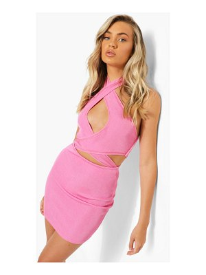 Boohoo Recycled Exposed Seam Cut Out Dress