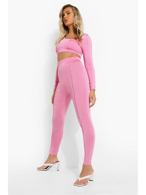 Boohoo Recycled Exposed Seam High Waisted Legging