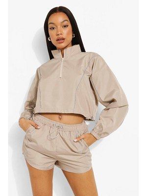 Boohoo Reflective Piping Shell Short Tracksuit