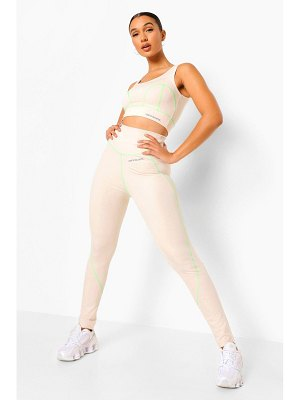 Boohoo Reflective Stitch Active Leggings