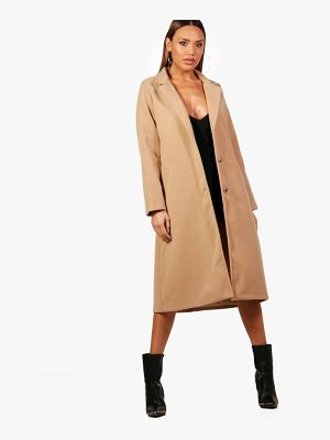 Boohoo Rhea Longline Wool Look Coat