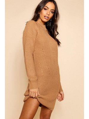 Boohoo Rib Knit Jumper Dress