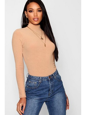 Boohoo Rib Knit Turtle Neck Sweater