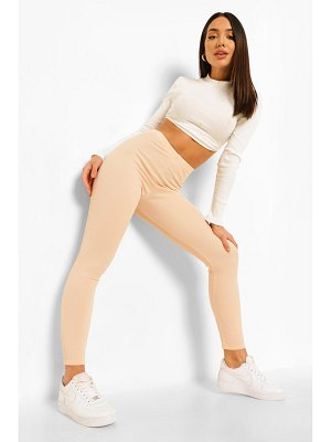 Boohoo Ribbed Basic Leggings