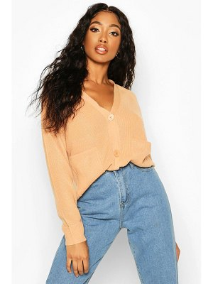 Boohoo Ribbed Pocket Detail Cardigan