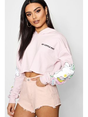 Boohoo My Little Pony Cropped Hoody