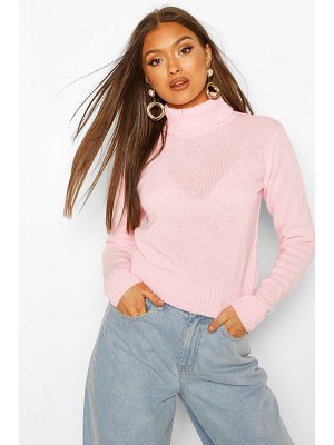 Boohoo Turtleneck Crop Sweater