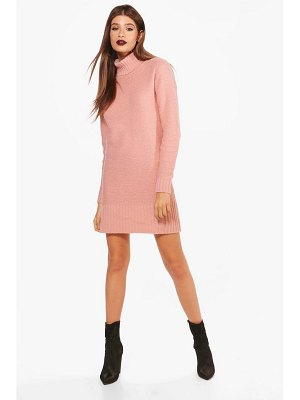 Boohoo Roll Neck Mini Jumper Dress
