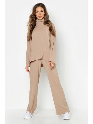 Boohoo Turtleneck T-Shirt + Pants Two-Piece Set