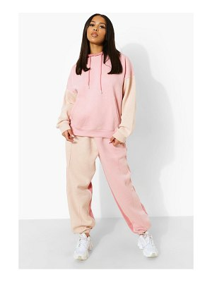 Boohoo Rose Colour Block Hooded Tracksuit