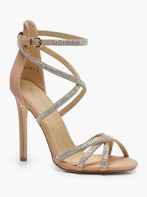 Boohoo Rose Diamante Cage Gladiator Sandals