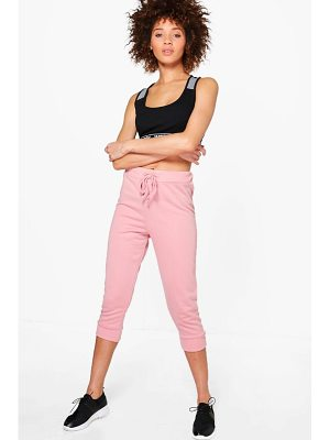 Boohoo Rose Fit Crop Running Joggers