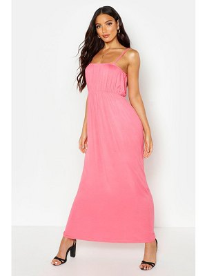 Boohoo Rouche Bust Strappy Maxi Dress