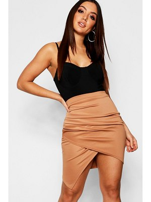 Boohoo Rouched Side Asymetric Skirt