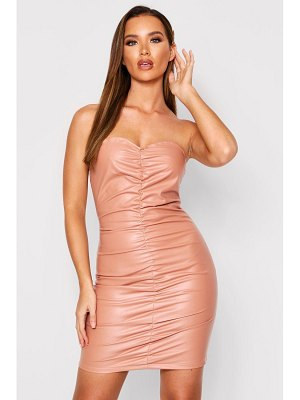 Boohoo Ruched Bodycon Dress