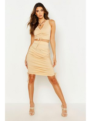 Boohoo Ruched Bodycon Skirt