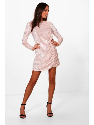Boohoo Ruched Detail Oversized Shift Dress