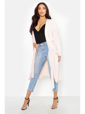 Boohoo Ruched Duster Coat