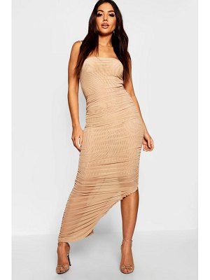 Boohoo Ruched Front Detail Maxi Dress