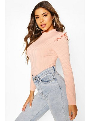 Boohoo Ruffle Neck & Shoulder One Piece