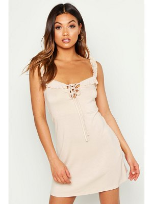 Boohoo Ruffle Strap Sun Dress