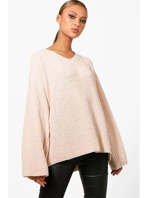 Boohoo Oversized Chenille Wide Sleeve Jumper