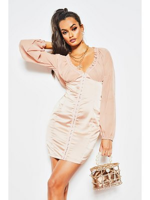 Boohoo Satin Hook & Eye Corset Bodycon Mini Dress
