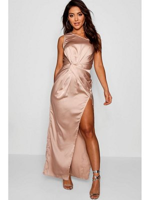 Boohoo Satin Twist Detail Maxi Dress